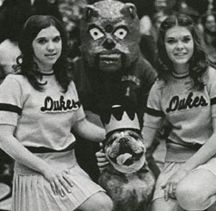 "Duke I, JMU Dukes mascot. The same year that the Duke Dog cartoon first appeared, 1972-73, was also when the real Duke Dog debuted. Like the cartoon, the appearance of the real bulldog as a mascot was orchestrated by Dr. Ray V. Sonner. The bulldog was a purebred English Bulldog who belonged to a Madison professor of political science and history. The bulldog's real name was ""Bunker."" (The dog was bought as a puppy in 1968 from a man who lived across from the Bunker Hill Monument in Boston.)"