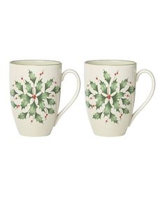 Shop for Lenox Holiday Holly Mugs, Set of 2 at Dillard's. Visit Dillard's to find clothing, accessories, shoes, cosmetics & more. The Style of Your Life. Lenox Christmas, Christmas Mugs, Holiday Dinnerware, Couple Mugs, Ceramic Mugs, Mugs Set, Fine China, Red Green, Ivory