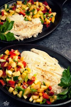 Fresh halibut fillets with a sunny salsa will brighten up your plate at any time of year.