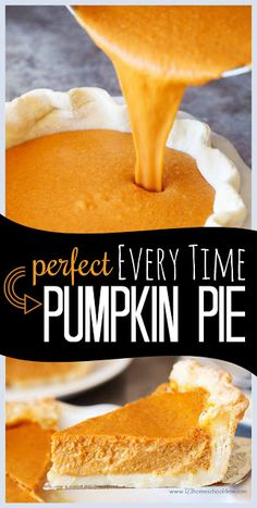 Perfect EVERY TIME Pumpkin Pie Recipe - this is the best pumpkin recipe you'll ever taste. It is an easy dessert that will come out perfectly. This homemade pumpkin pie is easy to make from scratch for thanksgiving dinner. It is the one thanksgiving recip