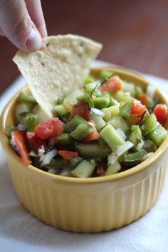 Spicy Cucumber Salsa - The Cabin Garden