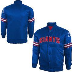 Vintage New York Giants Satin Mens Extra Large Starter Jacket Red ...