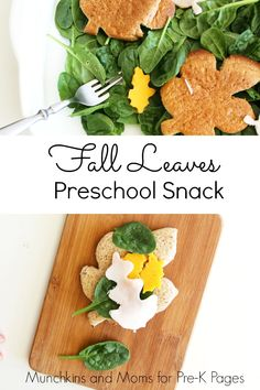 Fall Leaves Snack Activity. A healthy and tasty snack kids can make for a fun, fall theme in preschool!