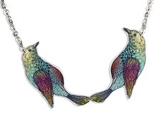 Acryl Kette Vögel Illustration von Dear Prudence auf DaWanda.com