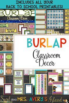 Burlap Classroom Dec