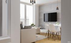Projekt mieszkania. Kraków Nowe Czyżyny, profesjonalista: PRØJEKTYW | Architektura Wnętrz & Design | homify Studio, My House, Sweet Home, Living Room, Interior, Kitchen, Design, Home Decor, Modern Apartment Decor