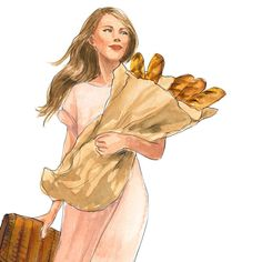 I carried a baguette {September 2017 calendar detail} #nyfw #believeinbread #glutenanon