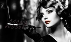 sexy cigarette holder femme desktop wallpaper - Google Search