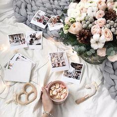 Идея фото для инстаграм. Уют, вдохновение, цветы #фото #уют #вдохновение #flatlay