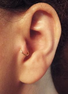 Set of Two Tragus Ring Cuff / Cartilage Fake Piercing by Junylie