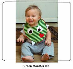 monster birthday - bib!