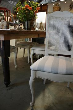 Reloved Rubbish: Vintage Cane Back Dining Chair Set