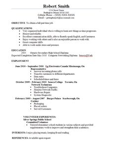 student resumes for jobs