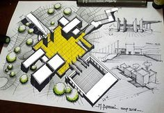 • SketchBook | by DSGNbook™ Landscape Architecture Design, Architecture Student, Site Plan Rendering, Rendered Plans, Alcohol Markers, Copic Markers, Building Sketch, Architectural Section, Site Plans