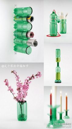 Reusing plastic bottles