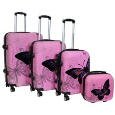 Traveler Butterfly Light Pink Hardside Spinner Luggage Set World Traveler Butterfly Light Pink Hardside Spinner Luggage Set (Light Pink)Set Set or The Set may refer to: Pink Suitcase, Pink Luggage, Luggage Sets, Best Carry On Bag, Best Carry On Luggage, Carpet And Upholstery Cleaner, Papillon Rose, Cute Suitcases, Butterfly Lighting