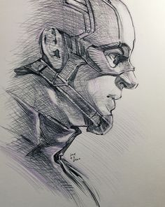 40 Magical Superhero Pencil Drawings,Sometimes it happens that you are in a mood to draw but nothing comes to your mind. You try and try but not a single idea pops into your mind about wh. Marvel Comics, Marvel Art, Marvel Heroes, Captain America Drawing, Captain America Art, Captain America Painting, Pencil Art Drawings, Cartoon Drawings, Drawing Sketches