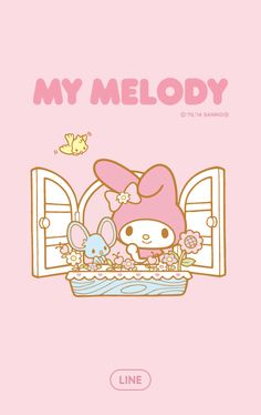 Everyone loves My Melody, and now you can make your whole LINE experience utterly adorable with her new theme! My Melody Wallpaper, Sanrio Wallpaper, Lines Wallpaper, Kawaii Wallpaper, Hello Kitty My Melody, Im Falling In Love, Hello Kitty Pictures, Chibi, Comic Games