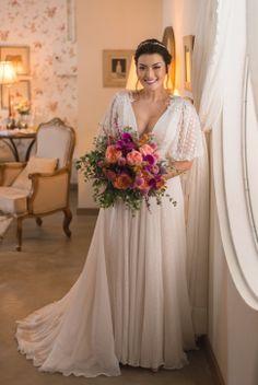 Wedding Dresses For Girls, Girls Dresses, Bridesmaid Dresses, Boho Wedding, Wedding Gowns, Wedding Day, Organza Bridal, Dusty Rose Wedding, Brunch Wedding