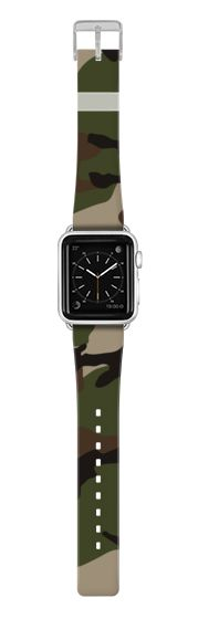 Casetify Apple Watch Band (38mm) {{case}} - Woodland Camouflag by Benjiman Croll #Casetify
