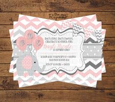 Elephant Birthday Invitation by RaynebowShoppe on Etsy, $1.00 Custom Birthday Invitations, Elephant Birthday, All Design, Rsvp, First Birthdays, Birthday Ideas, Unique Jewelry, Handmade Gifts, Party