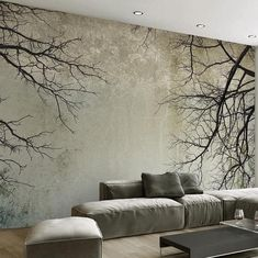 Cheap mural wallpaper Buy Quality photo wallpaper directly from China mural wallpaper Suppliers: Custom Photo Wallpaper Creative Abstract Home Decor Nordic Style Tree Branches Sky Papel De Parede Desktop Mural Wallpaper Tree Wallpaper Living Room, Living Room Murals, Living Room Bedroom, Bedroom Decor, Large Bedroom, Bedroom Kids, Kids Room, Bedroom Wallpaper Modern, Living Rooms