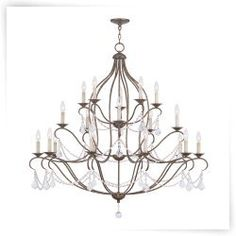 Livex Chesterfield 6439-71 20-Light Chandelier in Venetian Golden Bronze
