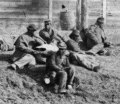 Black soldiers of the Army of the James near Aiken's Landing, VA, Nov. 1864. Library of Congress.