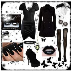 Corporate Goth by cassie-ace on Polyvore featuring Arden B., Burberry, CO, Luichiny, 1928, ESPRIT, Girls With Attitude, American Apparel, women's clothing and women's fashion
