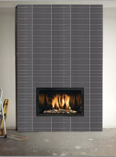 contemporary fireplace tile finish - Google Search