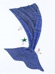 High Quality Warmth Crochet Knitted Mermaid Tail Design Blanket (DEEP BLUE)   Sammydress.com Mobile