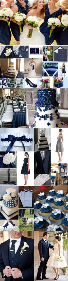 Navy and White wedding inspiration