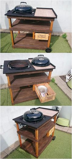 Pallet BBQ Table with Drawer
