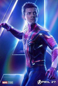 Avengers: Infinity War (Tom Holland as Peter Parker / Spiderman) Marvel Avengers, Marvel Comics, Heros Comics, Marvel Heroes, Captain Marvel, Poster Marvel, Thanos Marvel, Spiderman Marvel, Billboard