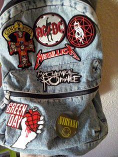 Clothes Diy Grunge Punk Rock 47 New Ideas Punk Rock Outfits, Emo Outfits, Grunge Outfits, Grunge Clothes, Tomboy Outfits, Mochila Grunge, Estilo Rock, Guns N Roses, Diy Clothing
