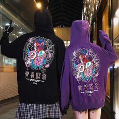 Style Streetwear, Japanese Streetwear, Streetwear Fashion, Stylish Winter Outfits, Pantalon Cargo, Style Japonais, Sweater Hoodie, Sweatshirt, Custom Clothes