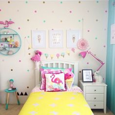 Comfy polkadot bedroom wallpaper designs ideas for kids 49 20 comfy polkadot bedroom wallpaper designs ideas for kids by ellen w. 75 polka dots wallpaper design ideas for kid bedroom dlingoo 36 ways to configure a shared kids room design . Little Girl Rooms, Room Inspiration, Bedroom Decor, Bedroom Ideas, Theme Bedrooms, Bedroom Curtains, Bedroom Lighting, Bedroom Designs, Home Decor