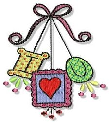 """I """"Heart"""" You Frames Filled Design - 2 Sizes! 