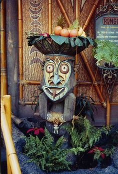 Rongo, god of agriculture. Disneyland's Tiki Room, 1960's