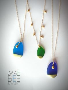 Seaglass necklaces from JewelryByMaeBee on Etsy. www.jewlerybymaebee.etsy.com