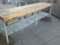 9' x 3' butcher table $600