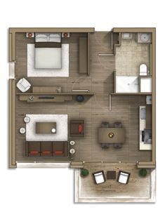 Floor plan rendering 29 by Alberto Talens Fernández at Coroflot.com