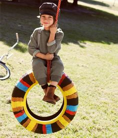 Love the sweats and LOVE that tire swing!