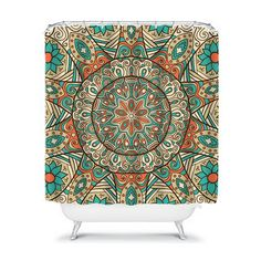 Monogram Shower Curtain Custom Personalized TRM Design mandala2
