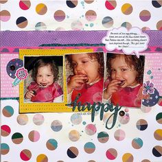 Happy - American Crafts - Glitter Girl Collection Glitter Girl, American Crafts, Scrapbooks, Pure Products, Stars, Happy, Projects, Layouts, Collection