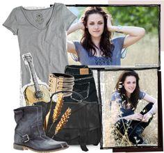 """Kristen Stewart"" by mathildl ❤ liked on Polyvore"