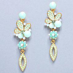 Madeline Earrings in Turquoise Mint