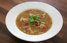Heaven in a bowl!! Slow Cooker #Paleo #Mexican Chicken Soup #CrockPot #Recipe GetCrocked.com
