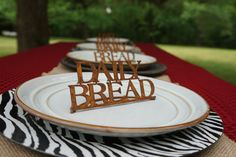 Daily Bread Rustic Place Setting Decor  (Set of 4) by AtTheEndOfTheRoad on Etsy