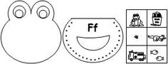 """Printable """"F"""" beginning sound with lacing activity from Making Learning Fun."""